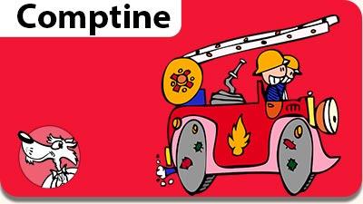 La comptine pour enfant Au feu les pompiers. Une comptine gratuite à lire et à écouter.