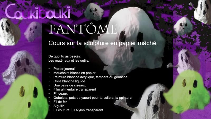 Petit Fantôme en papier mâché pour Halloween materiel pour un fantome en papier mache