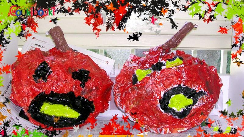 CITROUILLE papier mâché Déco d'Halloween - Cours COUKIBOUKI citrouille papier mache coukibouki