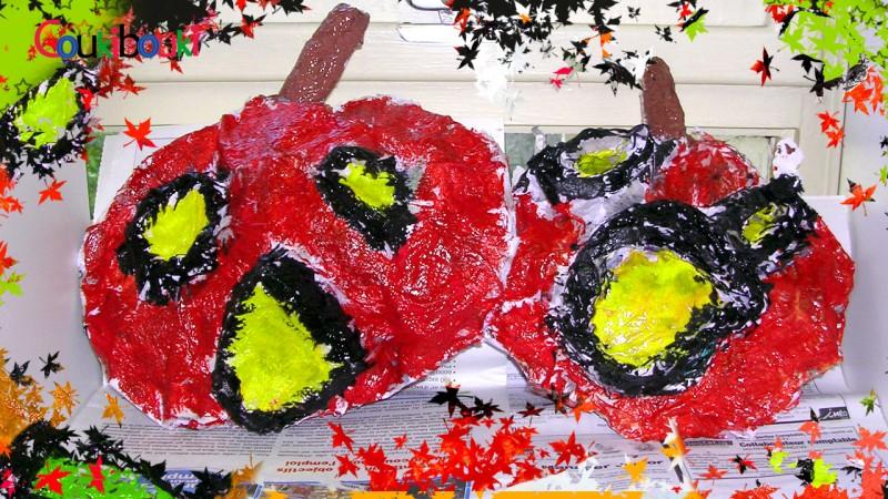 CITROUILLE papier mâché Déco d'Halloween - Cours COUKIBOUKI citrouilles en papier mache par les enfants