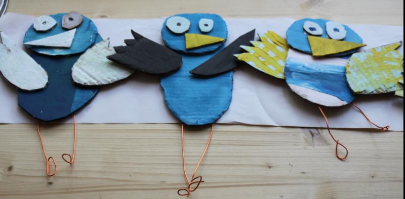 L'atelier des enfants aux vacances de la Toussaint les oiseaux