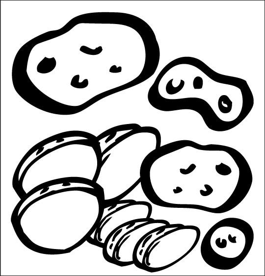 Pour Halloween, le dessin animé La soupe à la Sorcière coloriage la soupe a la sorciere legumes pomme de terre