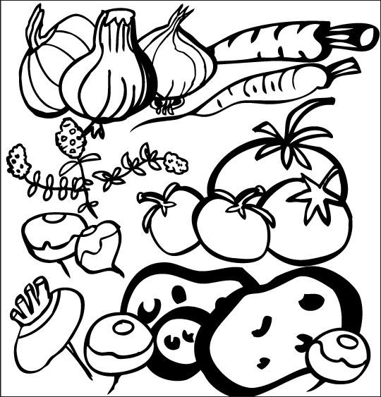 Pour Halloween, le dessin animé La soupe à la Sorcière coloriage la soupe a la sorciere legumes