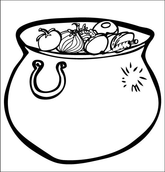 Pour Halloween, le dessin animé La soupe à la Sorcière coloriage la soupe a la sorciere marmite neuve