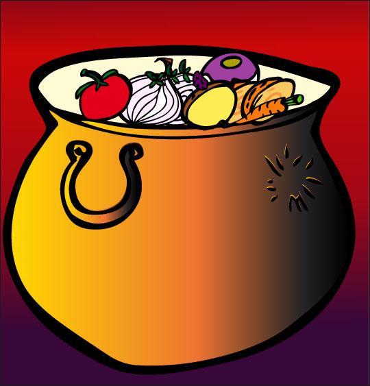 Pour Halloween, le dessin animé La soupe à la Sorcière la soupe a la sorciere marmite neuve