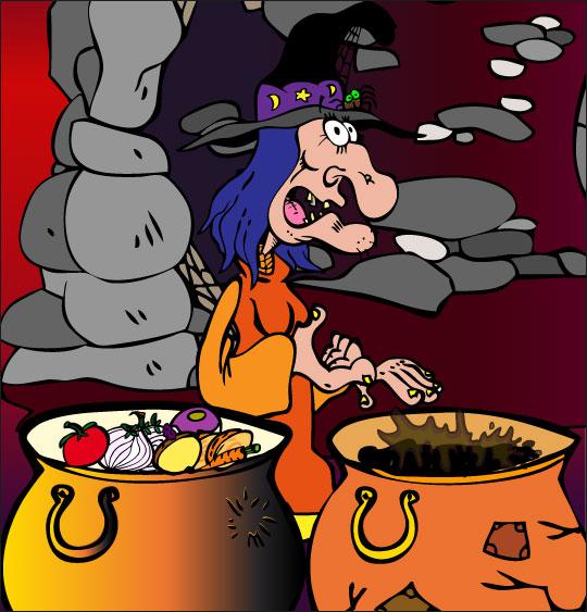 Pour Halloween, le dessin animé La soupe à la Sorcière la soupe a la sorciere soupes