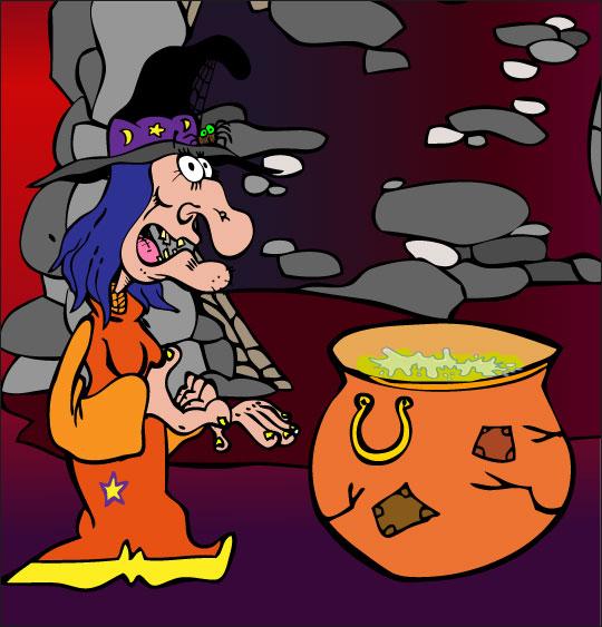Pour Halloween, le dessin animé La soupe à la Sorcière la soupe a la sorciere