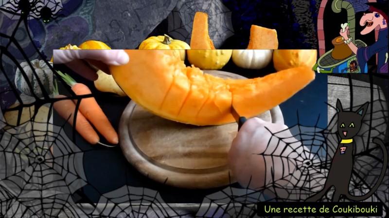 Halloween La Soupe de la Sorcière  un beau morceau de citrouille