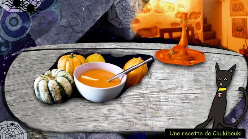 Halloween La Soupe de la Sorcière  un bol de soupe et des citrouilles