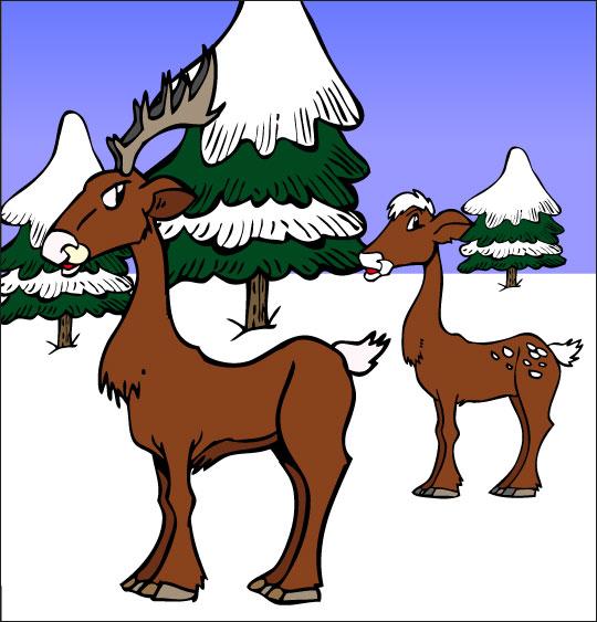Chanson de Noël gratuite, Mon beau Sapin avec les cerfs
