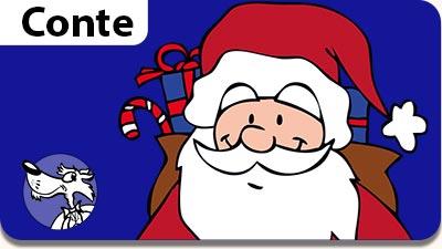 Conte de Noël, dessin animé pour les enfants la nuit avant noel