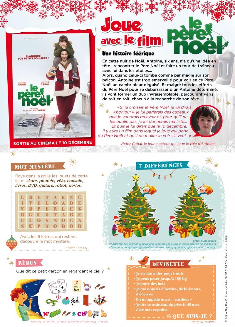 Jeux et Coloriages Le Père Noël page jeux v4