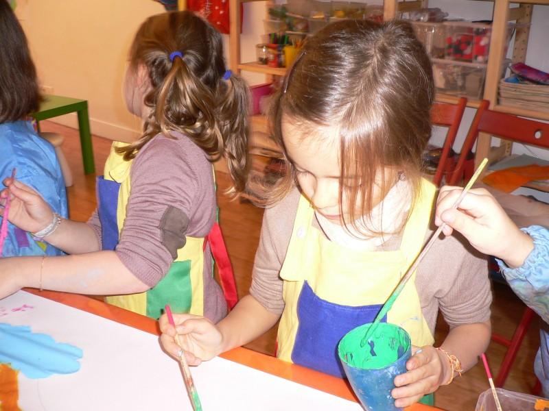 Les vacances de Noël à l'atelier des enfants, la peinture