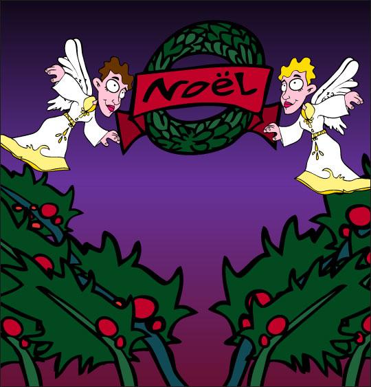 Chansons de Noël en dessins animés divin enfant joyeux noel avec les  anges