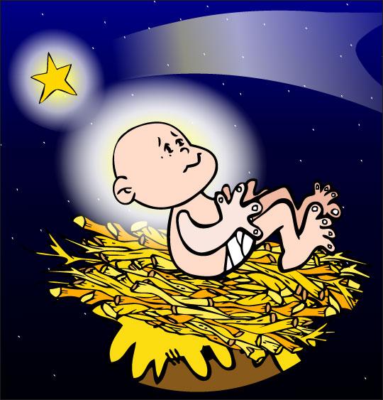 Chansons de Noël en dessins animés douce nuit sainte nuit enfant jesus etoile