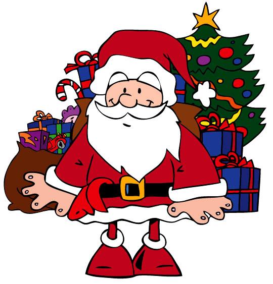 Chansons de Noël en dessins animés la nuit de noel le pere noel devant le sapin