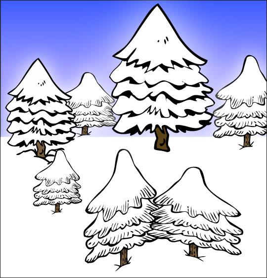 Chansons de Noël en dessins animés mes beaux sapinx sous la neige
