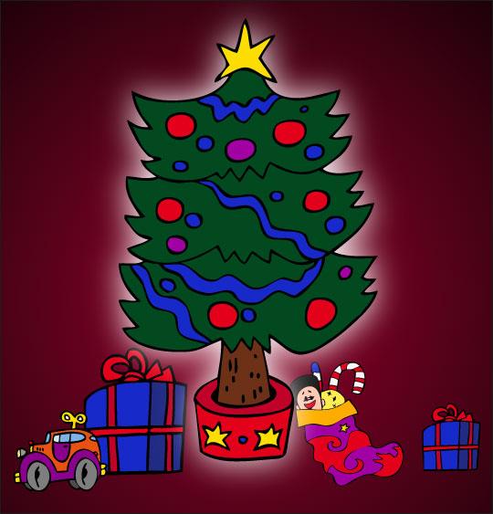 Chansons de Noël en dessins animés mon beau sapin noel lumiere