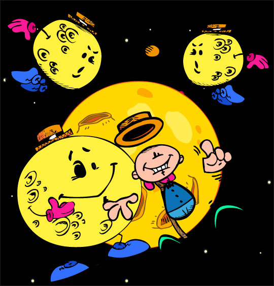 chanson pour danser sous la lune, Swing la Lune et les luniens