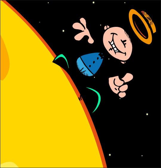 chanson pour danser sous la lune, Swing la Lune glissons sur la lune