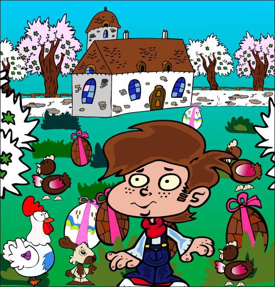 5 minutes de dessins animés gratuits pour Pâques maison jardin chocolat