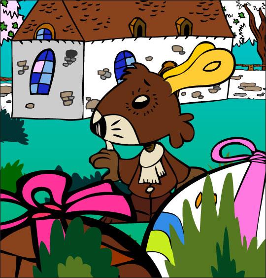 5 minutes de dessins animés gratuits pour Pâques maison jardin oeuf