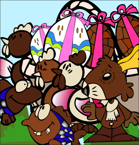 5 minutes de dessins animés gratuits pour Pâques panier