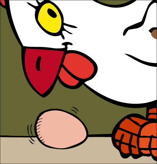 5 minutes de dessins animés gratuits pour Pâques poule oeuf mur