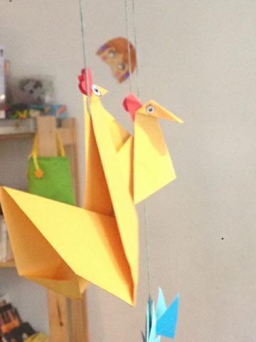 Origami de l'atelier des enfants