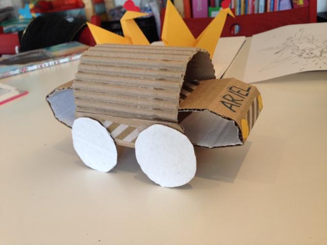 Le camion (recyclage) de l'atelier des enfants