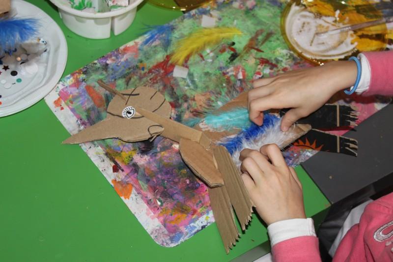 Les vacances de Pâques à l'atelier des enfants,création d'un personnage