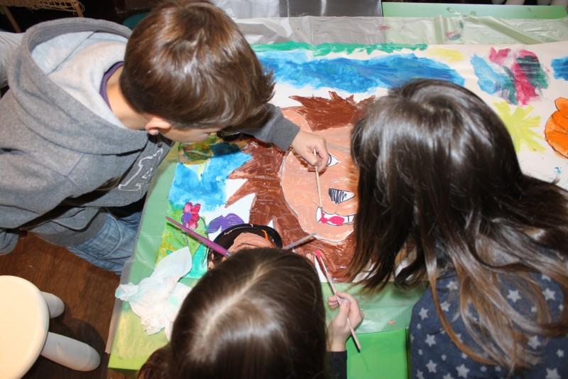 Les vacances de Pâques à l'atelier des enfants, la peinture