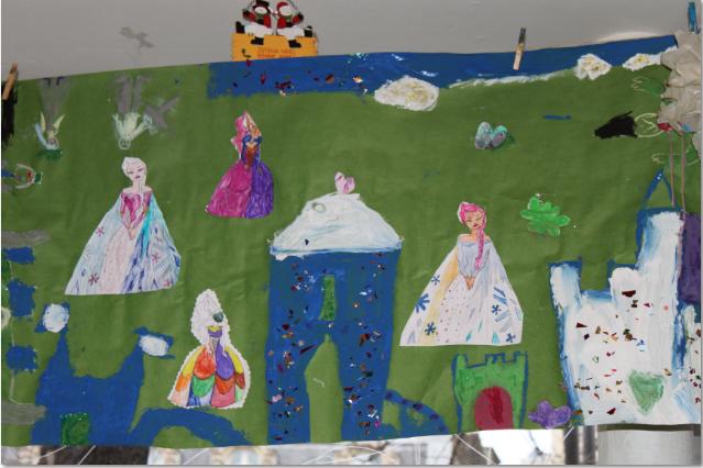 la fresque de l'atelier des enfants