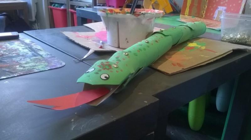 Les vacances de Pâques à l'atelier des enfants, le serpent