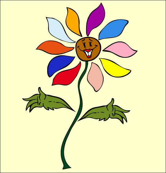 Apprendre une chanson pour la fête des mères aux enfants, la fleur,  une image extraite du dessin animé.