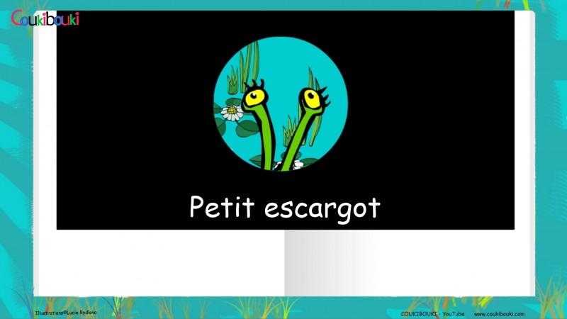 Livre audio de la comptine Petit Escargot, les yeux de l'escargot