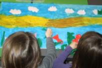 L'Ateliers des Enfants durant les vacances d'été, la peinture