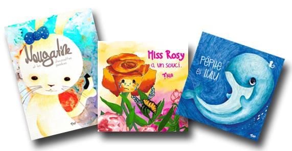 Les livres pour enfants de NLA maison d'édition jeunesse, 3 livres.
