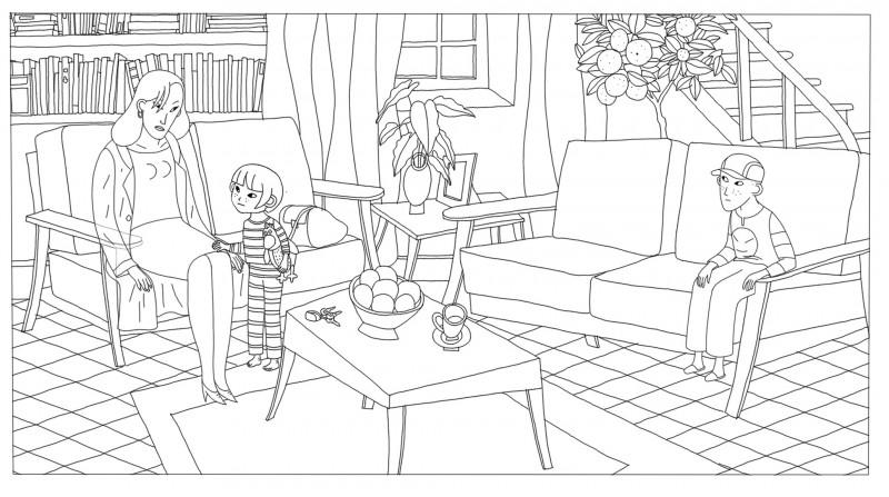 Coloriage le salon, Phantom Boy  un film d'animation
