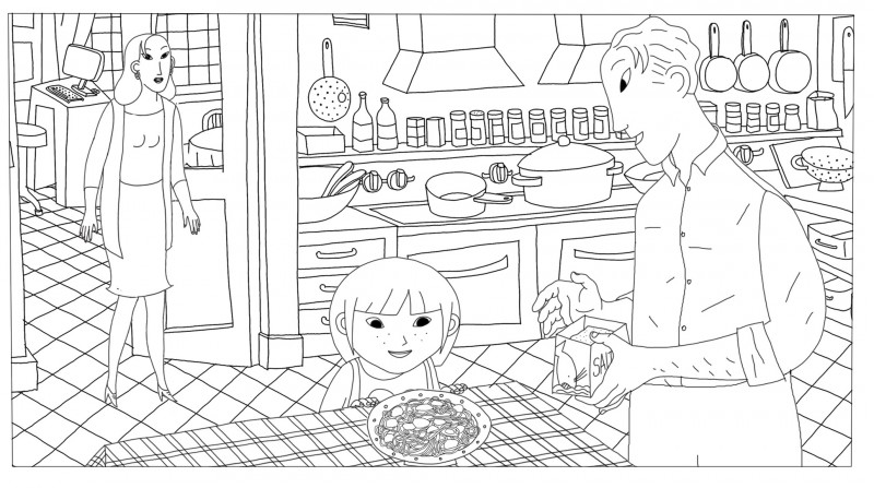 Coloriage la cuisine, Phantom Boy un film d'animation