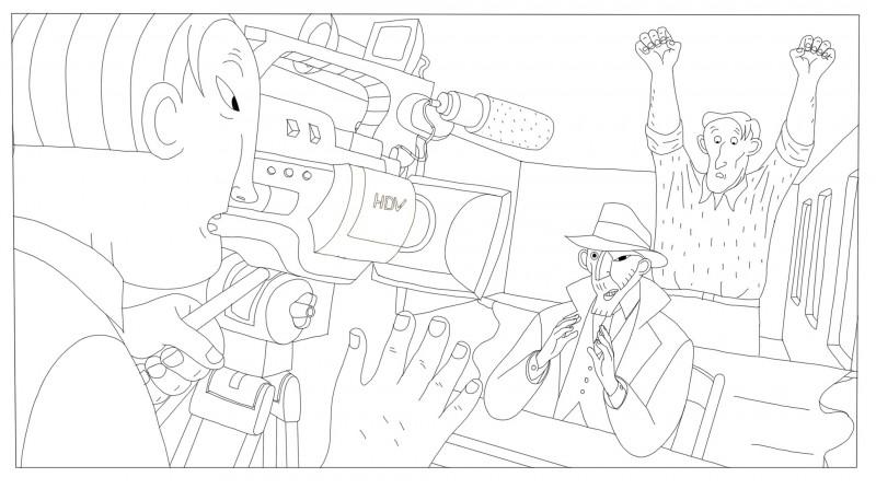 Coloriages Phantom Boy , ça tourne,  un film d'animation