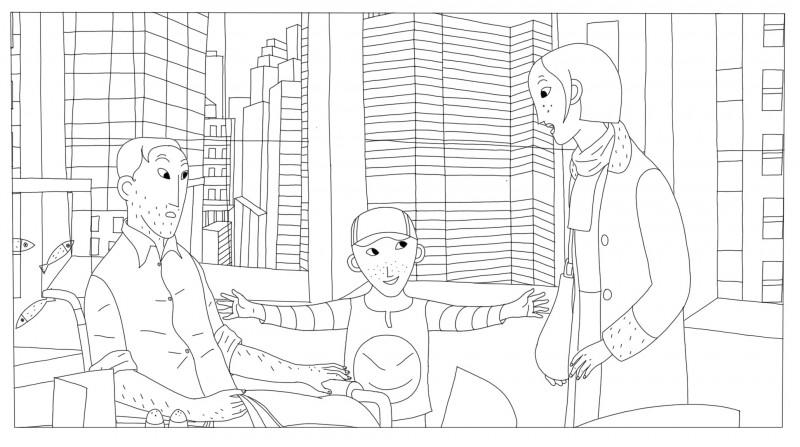 Coloriages Phantom Boy un film d'animation pour les enfants.