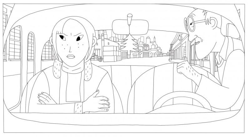 Coloriages Phantom Boy, un film d'animation pour les enfants.