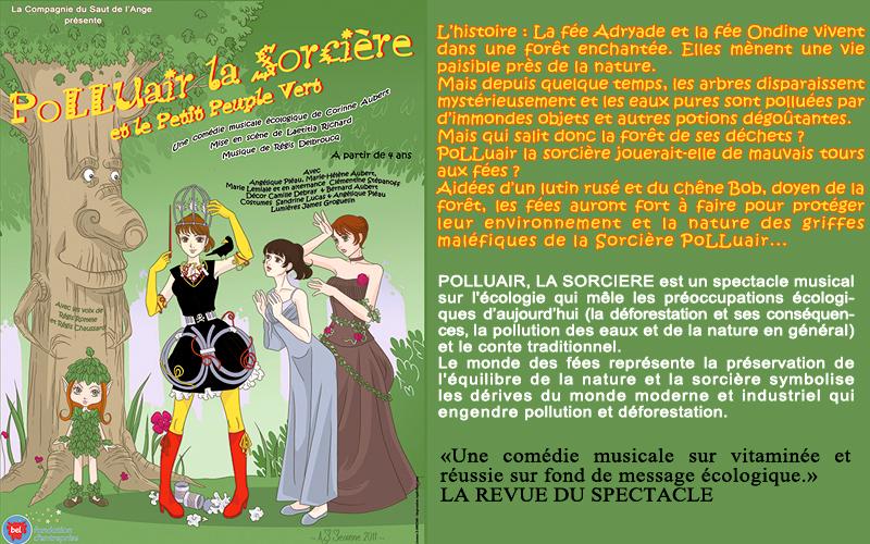 Spectacle enfant gratuit à Paris, Polluair la sorcière et le peuple