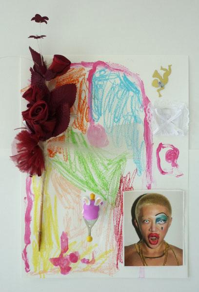 Ateliers anniversaire découpage carte postal et fleurs