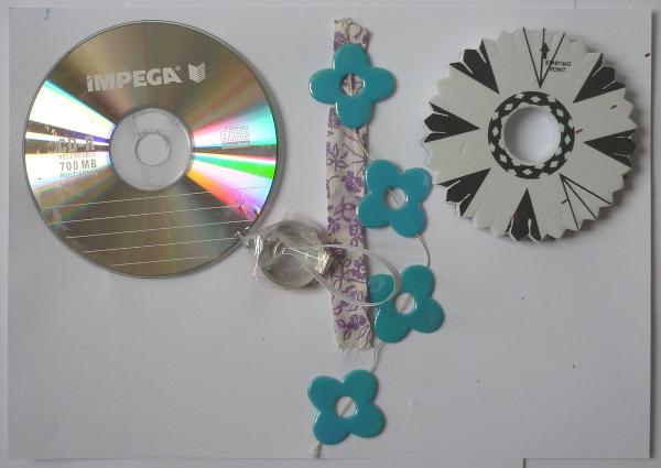 Atelier anniversaire à domicile, recyclage CD