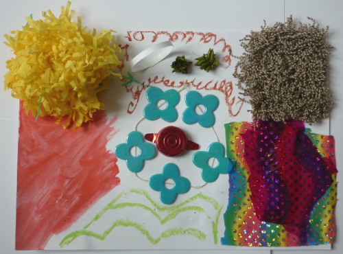 Ateliers anniversaire assemblage matériaux de récupération