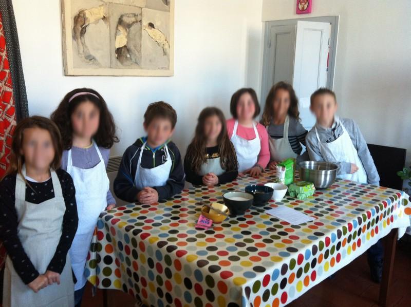 Anniversaire enfants à Nice, ateliers de cuisine, une  famille d'anges.