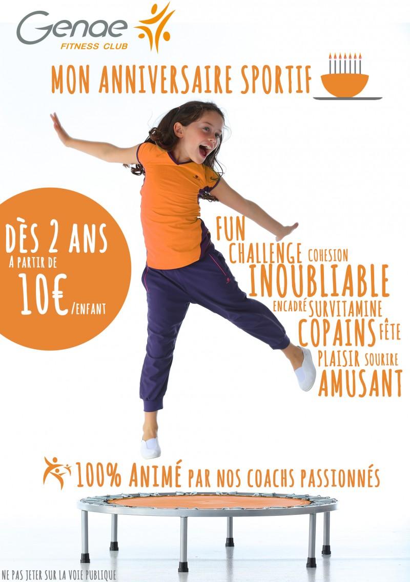 Anniversaire sportif enfant à Lyon, Genae fitness club Bron et Ecully