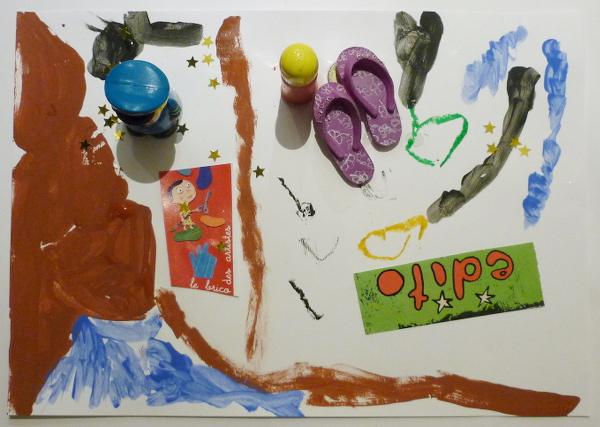 Ateliers enfants, arts plastiques et poésie, recyclage avec des matériaux de récupération